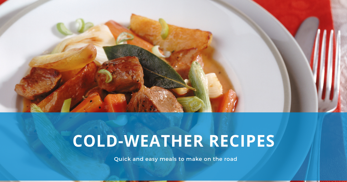 Cold weather meals to make on the road
